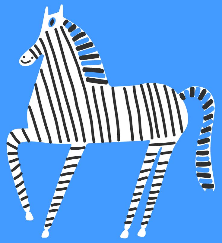DIY Inspiration - Zebra Illustration