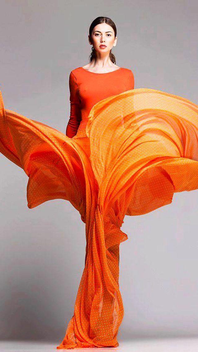 Znalezione obrazy dla zapytania orange fashion
