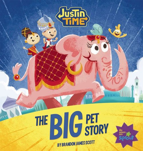 Justin Time  The Big Pet Story  illustrated children's by Immedium, $15.95