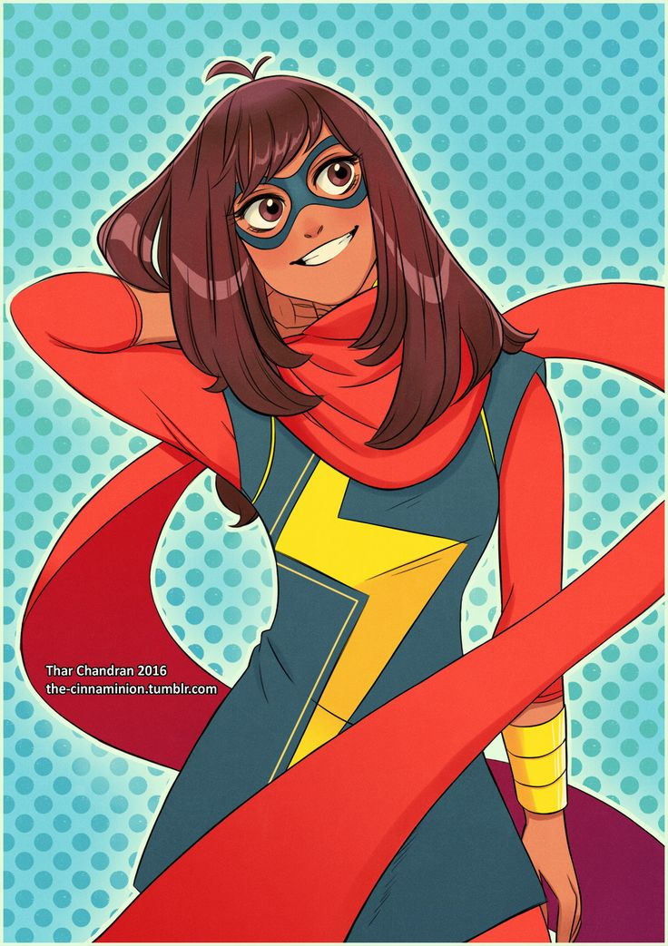 "the-cinnaminion: "" Kamala Khan! What a cutie~ ❤️ """