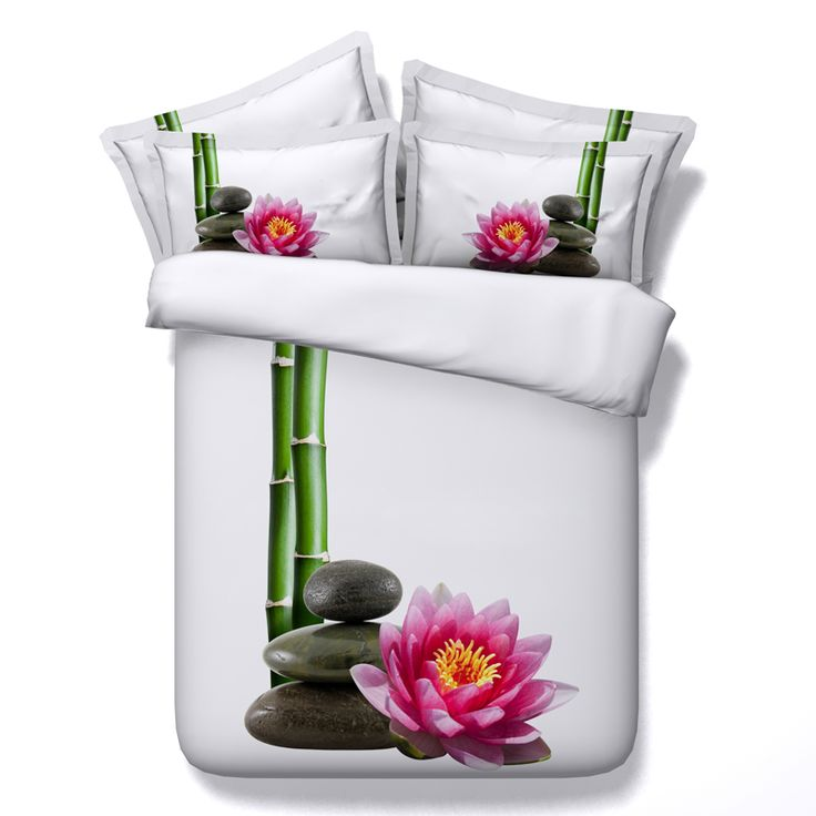 Find More Bedding Sets Information about Fashion Bedding Set Graceful Lotus and Bamboo Printed 4pcs Duvet Cover Sets Cotton Bed Linen Bed Sheet Pillowcase Home Textile,High Quality textile calender,China sheet gripper Suppliers, Cheap sheet seal from Toni's Store on Aliexpress.com