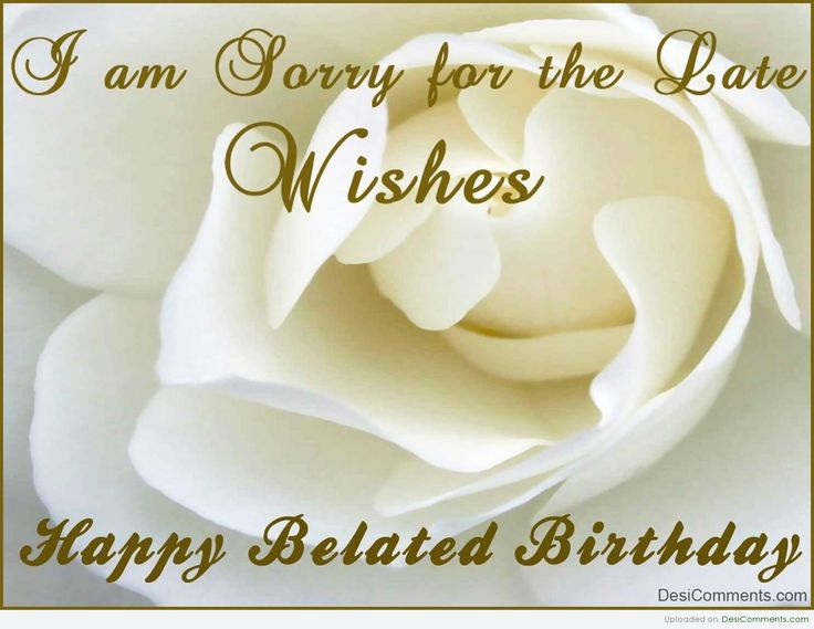 belated birthday wishes - Free Large Images