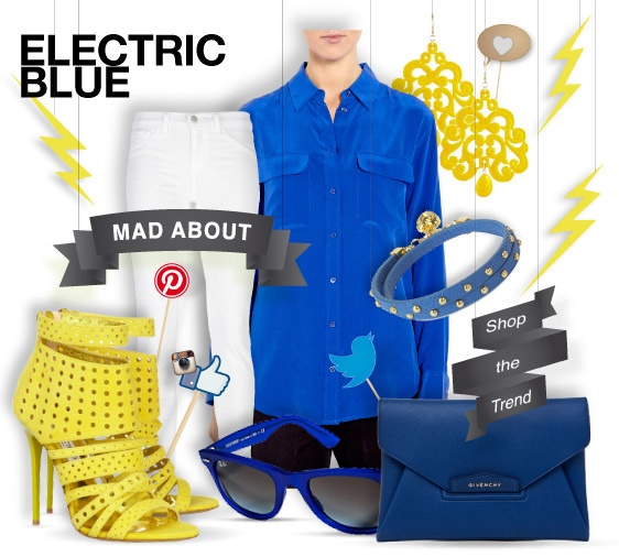 Electric #blue - mad about - #style shopthemagazine.com