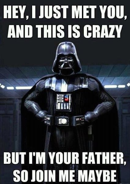 So join me maybe!Geek, Darth Vader, Cars Rae Jepsen, Darthvader, Star Wars, Funny, Dark Side, Stars Wars, Starwars
