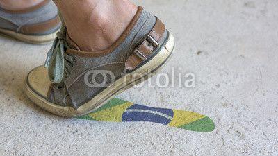 "Stampa su tela ""Leaving Mark Footstep Brazil"", #stampasutela #stampaquadro #stampa su #plexiglass Codice art: 65765483"