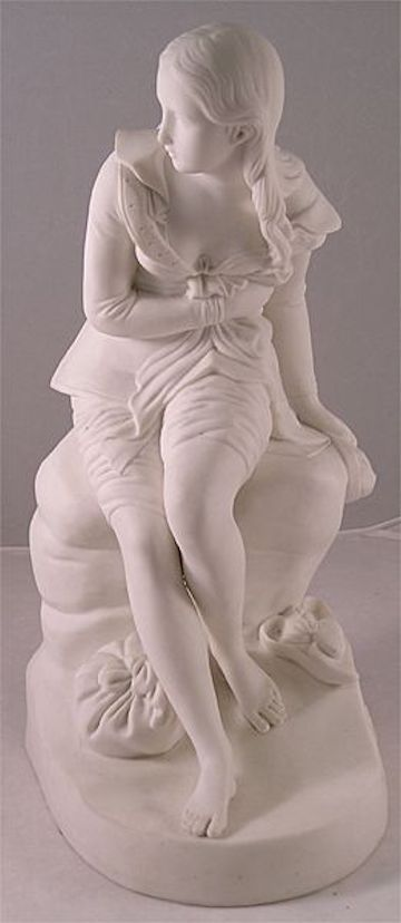 Dorothea by John Bell 1847. Made from Parian Porcelain and fashioned after a character in Don Quixote