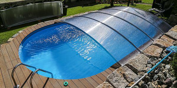 Schwimmbaduberdachung Selber Bauen Flexiroof Poolabdeckung