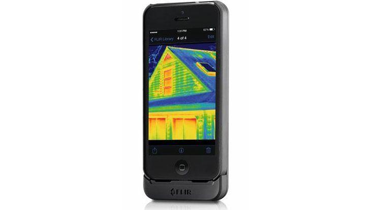 Flir One macht das Handy zur Wärmebildkamera und zeigt Hausbesitzern, wo ihr Gebäude Energie verschwendet Quelle: Presse