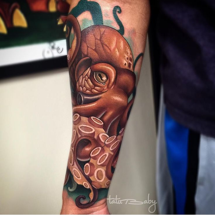 octopus tattoo by Tatu Baby  Email TatuBabyTattoo@Gmail.com for appointments