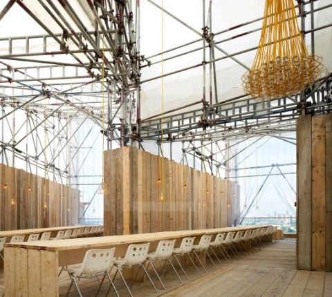 Studio East Dining Main Table With Scaffold Board Tables