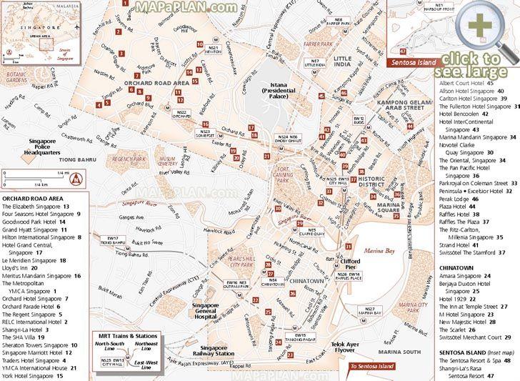Chinatown Singapore Map on