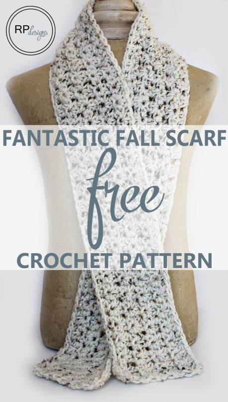 Fantastic Fall Scarf - Makes a great gift idea- Free DIY Crochet Pattern // From Rescued Paw Designs ༺✿ƬⱤღ✿༻