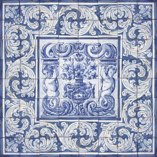 Portuguese Ceramic Tile   Bicesse Tiles - Portuguese tiles from Portugal wall decorative ceramic ...