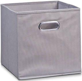 Koš pro skladování potravin, organizér, šedá barva, 32 x 32 x 32 cm, ZELLER4003368141107