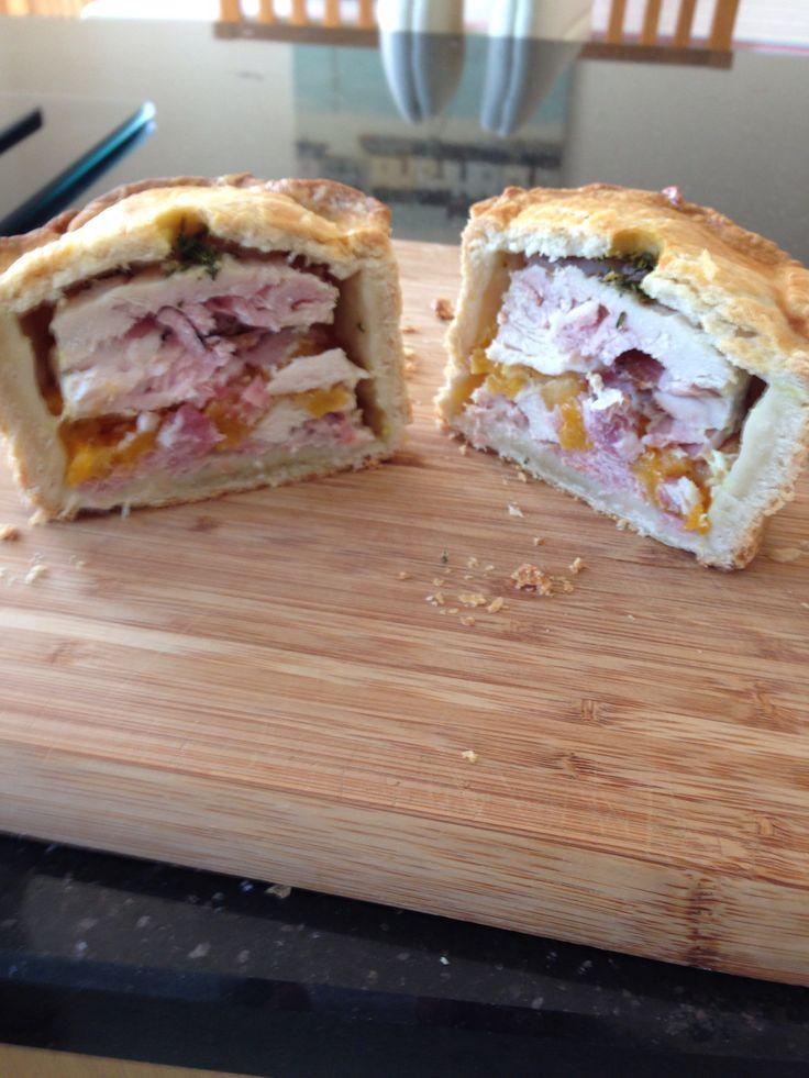 Chicken pie- hot crust pastry