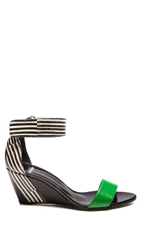 Shop Snake Stripe Wedge by Pierre Hardy for Preorder on Moda Operandi