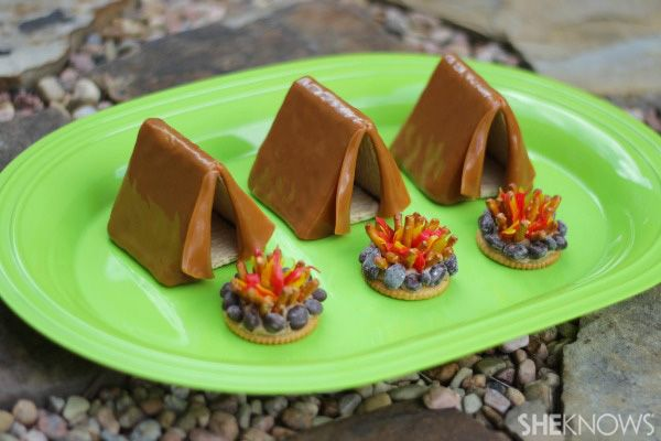 Tent and campfire treats