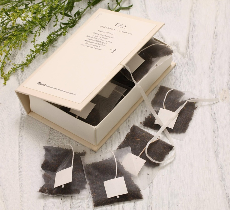 graf/graf original blend tea suche(スーチェ)ティパック8p入り箱仕様 1575yen 花や果実を思わせるフレーバーを本の中に閉じ込めて