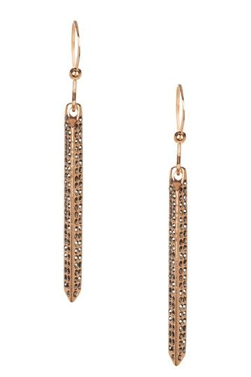 Pave CZ Long Earrings