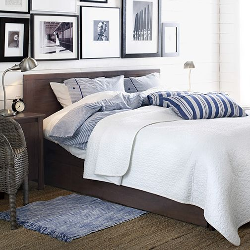 perfect ikea brusali bed frame with storage boxes full the large drawers on casters give you an. Black Bedroom Furniture Sets. Home Design Ideas