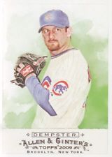2009 Topps Allen and Ginter Baseball #34 Ryan Dempster Chicago Cubs