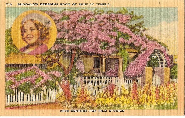 Postcard 20th CENTURY FOX FILM STUDIOS California/CA Shirley Temple's Bungalo | eBay