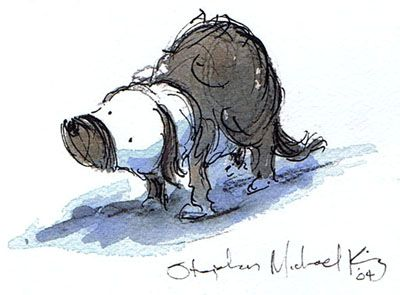 Stephen Michael King - original artwork from picture book 'Mutt Dog'