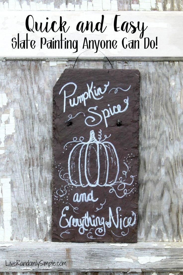 Quick and Easy Fall Slate Painting that anyone can do! This is my favorite design!!!