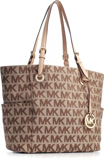 A Chic Polished Signature Tote From Michael Kors That Works Day Or Night Corporate Casual Imported Jacquard Fabric