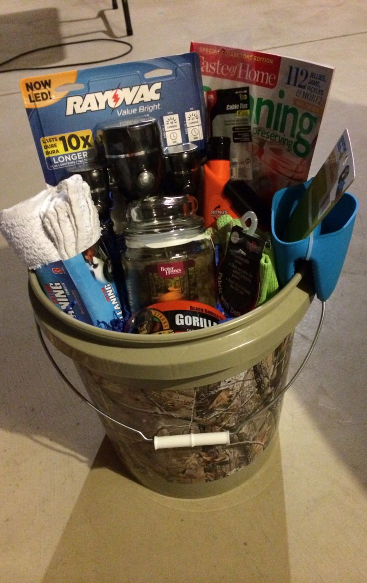 Husband And Wife Gift Basket Couple Camo Man