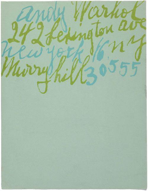 Andy Warhol's Letterhead