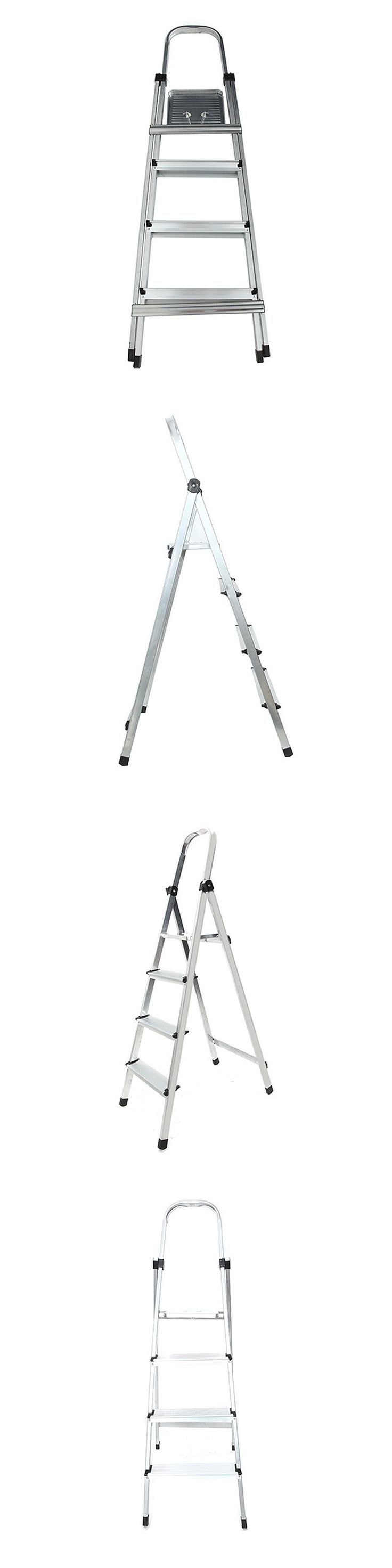 Ladders 112567: Portable 4 Step Folding Ladder Household Office Foldable Multi Purpose Aluminum -> BUY IT NOW ONLY: $33.98 on eBay!