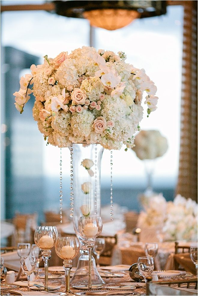 Blush Ivory And Gold Wedding At The Petroleum Club Of Houston Pinterest Centerpieces Flowers