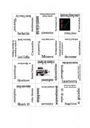 underground railroad worksheets | underground railroad another puzzle this time about the underground ...