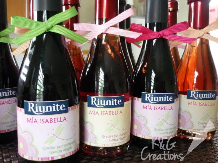 Mini botellas de vino personalizadas...