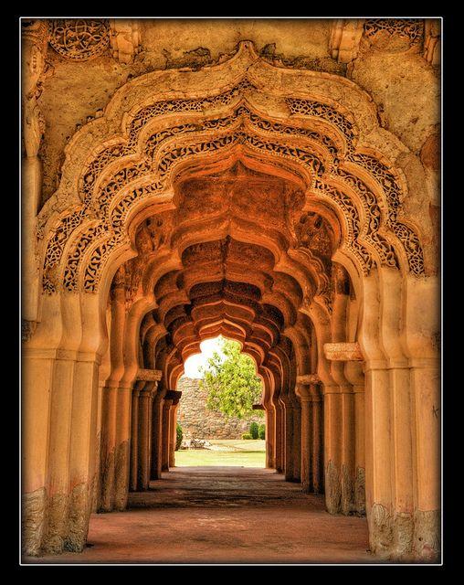 Arches of Lotus Mahal, Hampi by Mukul Banerjee