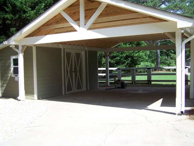 Best 25 attached carport ideas ideas on pinterest for Open carport plans