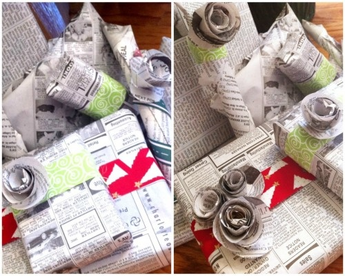 Best Wrapping With Newspaper Images On   Wrapping