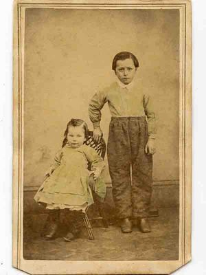 1860s Tinted CDV Pair of Young Children by Thomas Danley of Macomb Illinois   eBay