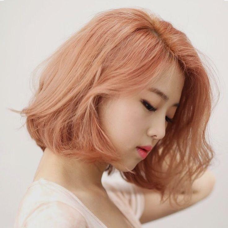 Korean medium short hair style