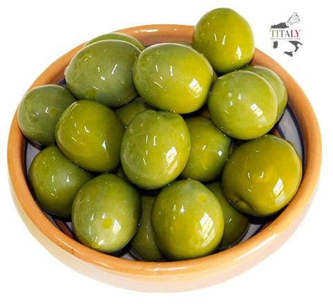 GREEN OLIVES BY NOCELLARA BELICE PDO 500 gr  Green olive protected designation of origin. Sweet and pulpy ideal as a side dish and to enrich every kind of salad.
