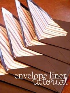 Make liners for drab envelopes or to match cards