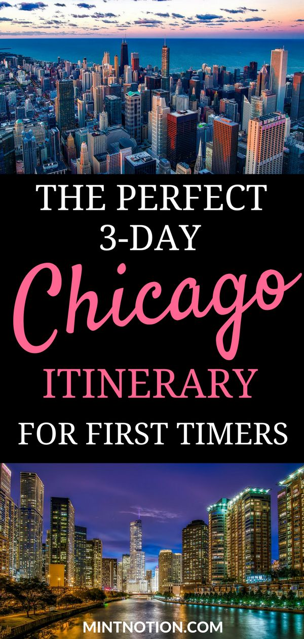 Perfect 3-day Chicago itinerary for first-time visitors. Spend a weekend in Chicago visiting the city's top attractions on a budget with the CityPASS. This itinerary includes Skydeck, 360 Chicago, The Shedd Aquarium, and more! #chicagotrip #chicagoitinerary