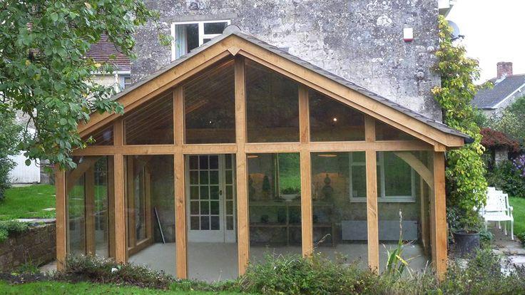 oak garden room front view