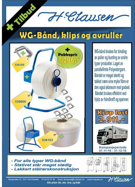 H. Clausen AS: WG-Bånd kampanje November 2016