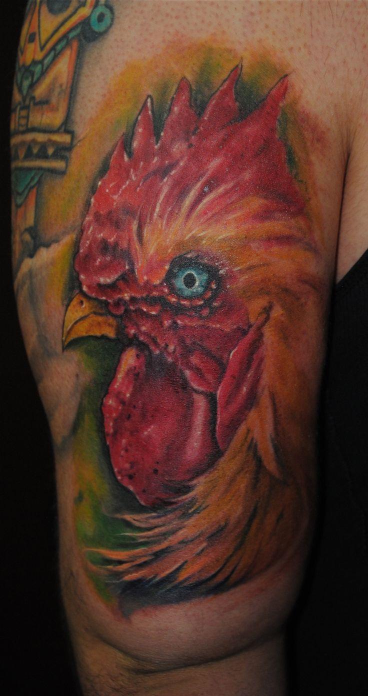 Rooster Tattoo via Philadelphia Tattoo Convention | Alchemy Ink ...