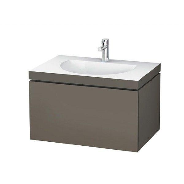Duravit L Cube C-Bonded Wall-Mounted Drawer Vanity Unit 800mm | Bathroom Vanity Units | CP Hart