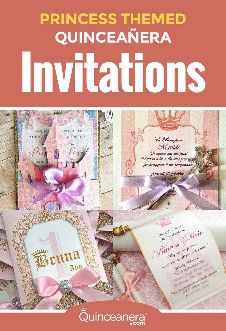 Princess Themed Quince Invitations Invitations The O