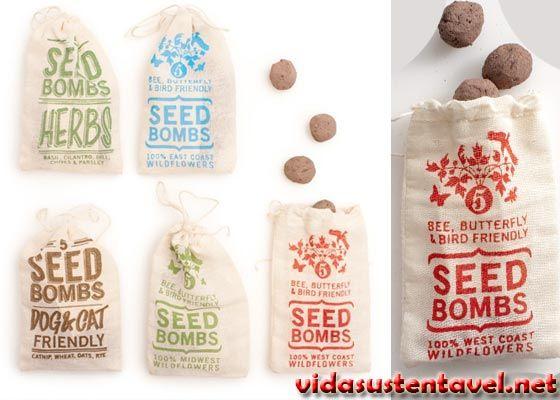 Faça uma Guerra Ecológica Explodindo Bombas de Sementes