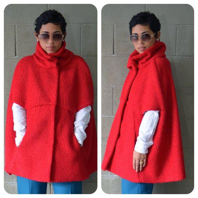 ARTE COM QUIANE - Paps,Moldes,E.V.A,Feltro,Costuras,Fofuchas 3D: Corte e Costura: Molde Capa feminina Vermelha